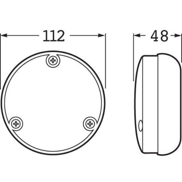 Hella 1467 Led Reversing Lamp – 110mm Round Black Base-2