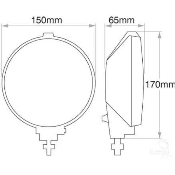 Narva Maxim 150 Driving Lamp Kit 12 Volt 100w 150mm Diameter