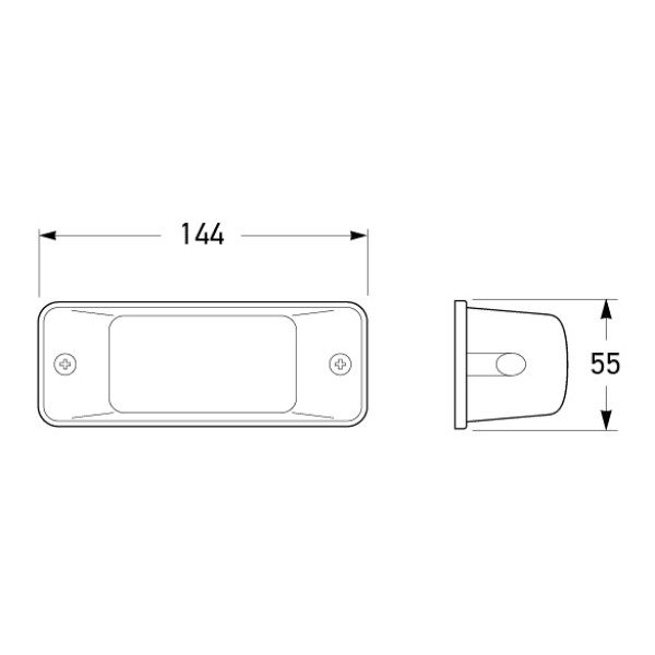 Hella 2153 Supplementary Side Direction Indicator Lamp-1